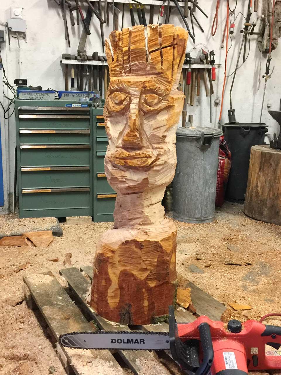 Carving skulpturen schnitzen mit der kettensäge sabine
